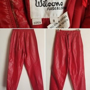 Wilson's red leather pants